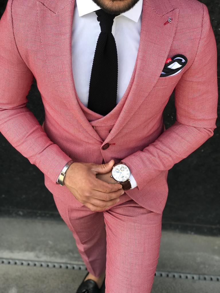 costume homme abramo rose