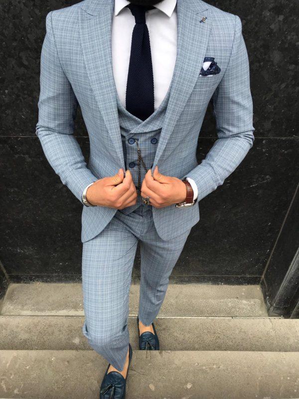 costume gris adriano